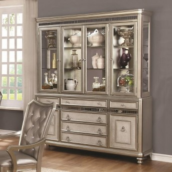 Coaster Danette Metallic Platinum China Cabinet Available Online in Dallas Fort Worth Texas