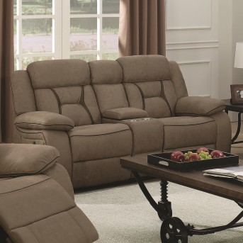 Coaster Houston Tan Reclining Loveseat With Console Available Online in Dallas Fort Worth Texas