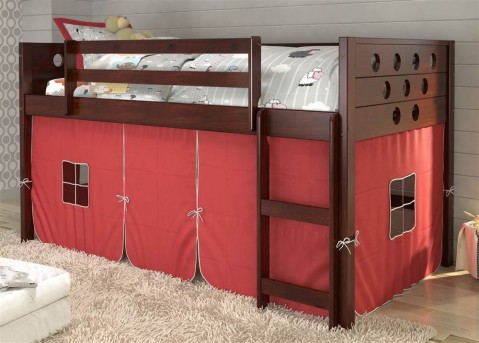 Donco Donco Red Tent Twin Low Loft Bed Available Online in Dallas Fort Worth Texas