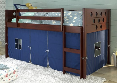 Donco Donco Blue Tent Twin Low Loft Bed Available Online in Dallas Fort Worth Texas