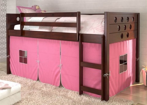 Donco Donco Pink Twin Low Loft Bed Dallas Tx Kids Bunk Bed