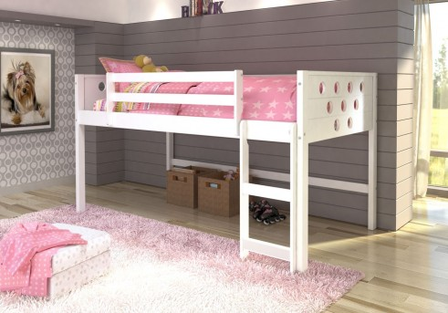 Donco White Twin Low Loft Bed Available Online In Dallas Fort Worth Texas