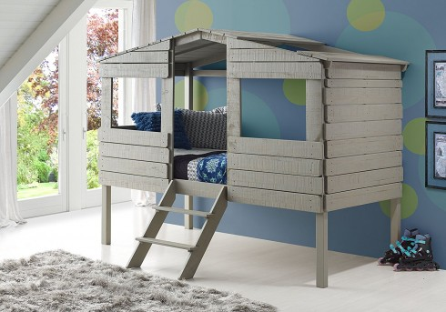 Donco Donco Rustic Grey Twin Low Loft Bed Available Online in Dallas Fort Worth Texas