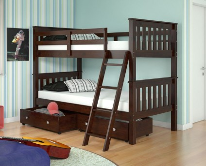 Donco Donco Cappuccino Twin/Twin Bunk Bed Bunk Bed Available Online in Dallas Fort Worth Texas