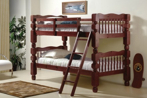 Donco Donco Merlot Twin/Twin Jumbo Turned Post Bunk bed Available Online in Dallas Fort Worth Texas