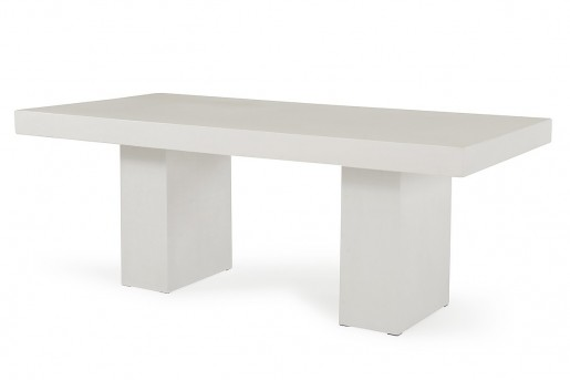 VIG Saber Ivory Concrete Dining Table Available Online in Dallas Fort Worth Texas