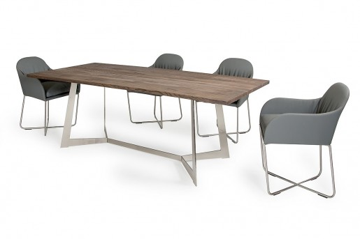VIG Wharton Dark Aged Oak Dining Table Available Online in Dallas Fort Worth Texas