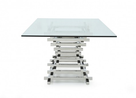 VIG Crawford Rectangular Glass Dining Table Available Online in Dallas Fort Worth Texas