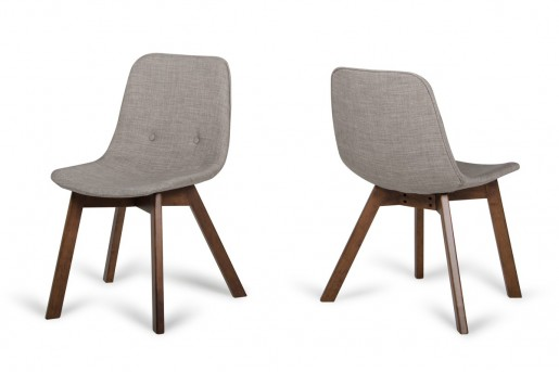 VIG Laken Sesame & Walnut Dining Chair Available Online in Dallas Fort Worth Texas