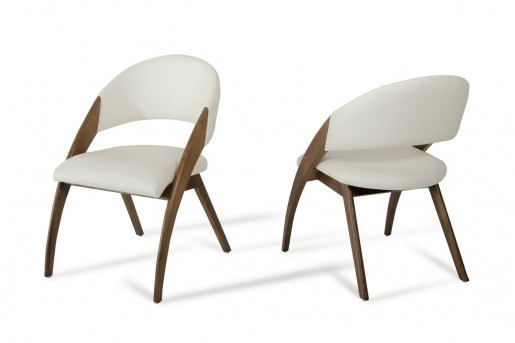 VIG Lucas Cream & Walnut Dining Chair Available Online in Dallas Fort Worth Texas