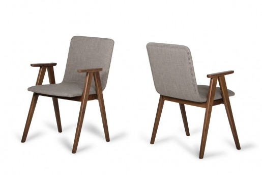 VIG Maddox Sesame & Walnut Dining Chair Available Online in Dallas Fort Worth Texas
