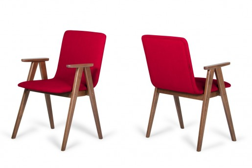 VIG Maddox Red & Walnut Dining Chair Available Online in Dallas Fort Worth Texas