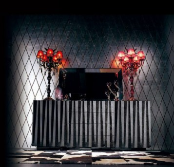 VIG A&X Emphasis Black Crocodile Buffet Available Online in Dallas Fort Worth Texas