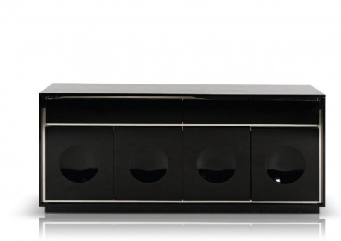 VIG A&X Grand Black Crocodile Lacquer Buffet Available Online in Dallas Fort Worth Texas