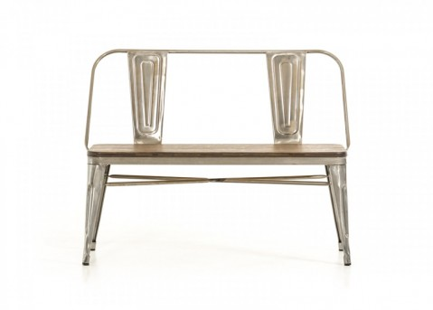 VIG Edison Steel & Wood Bench Available Online in Dallas Fort Worth Texas