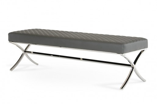 VIG Adderley Grey Dining Bench Available Online in Dallas Fort Worth Texas