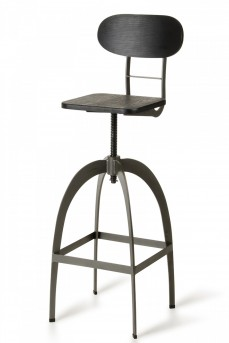 VIG Elgin Black & Gun Metal Bar Stool Available Online in Dallas Fort Worth Texas