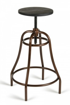 VIG Fritch Black & Bronze Bar Stool Available Online in Dallas Fort Worth Texas