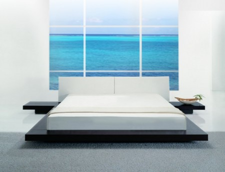 VIG Opal Low Profile Wenge Platform Bed Available Online in Dallas Fort Worth Texas