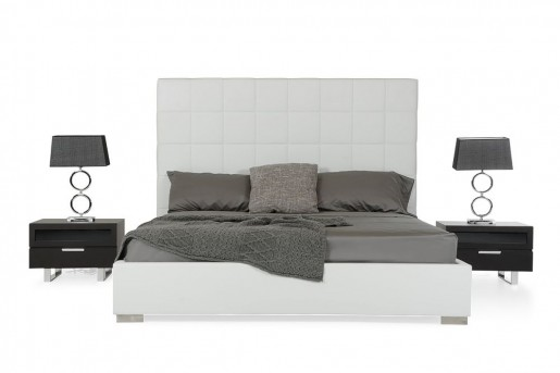 VIG Francis White Leatherette Bed Available Online in Dallas Fort Worth Texas