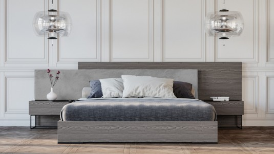 VIG Nova Domus Enzo Fabric Bed With Nightstand Available Online in Dallas Fort Worth Texas