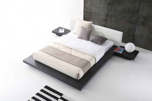 VIG Opal Wenge & White Platform Bed Available Online in Dallas Fort Worth Texas