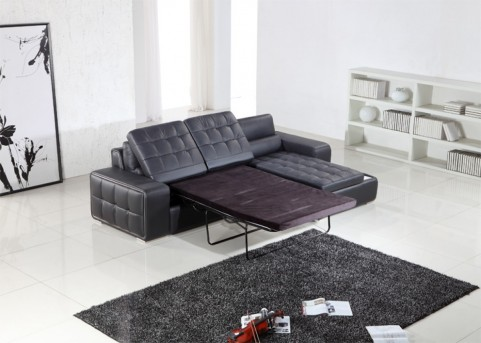 VIG Divani Casa Leather Sectional Sofa Bed Available Online in Dallas Fort Worth Texas