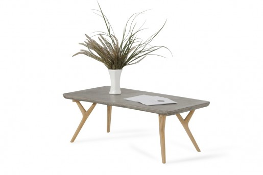 VIG Dondi Concrete & Natural Oak Coffee Table Available Online in Dallas Fort Worth Texas