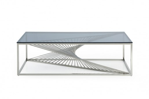 VIG Trinity Glass Coffee Table Available Online in Dallas Fort Worth Texas
