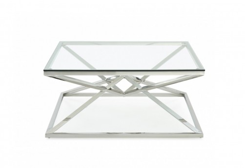 VIG Xander Square Glass Coffee Table Available Online in Dallas Fort Worth Texas