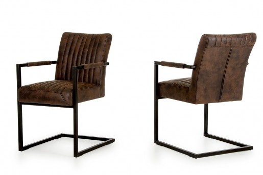 VIG Marfa Cognac Arm Chair Available Online in Dallas Fort Worth Texas