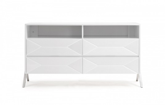 VIG Candid White Dresser Available Online in Dallas Fort Worth Texas