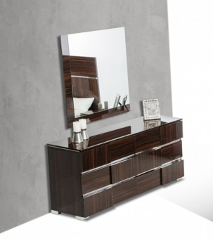 VIG Picasso Ebony Lacquer Dresser Available Online in Dallas Fort Worth Texas