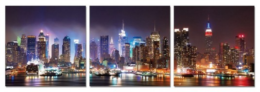 VIG Nyc At Night 3-panel Photo Available Online in Dallas Fort Worth Texas