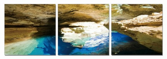 VIG Blue Grotto 3-Panel Photo On Canvas Available Online in Dallas Fort Worth Texas