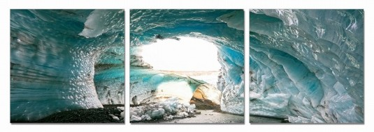 VIG Ice Cave 3-Panel Photo On Canvas Available Online in Dallas Fort Worth Texas