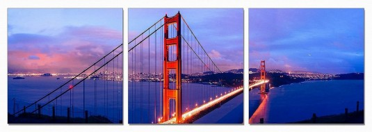 VIG San Francisco 3-Panel Acrylic Painting Available Online in Dallas Fort Worth Texas