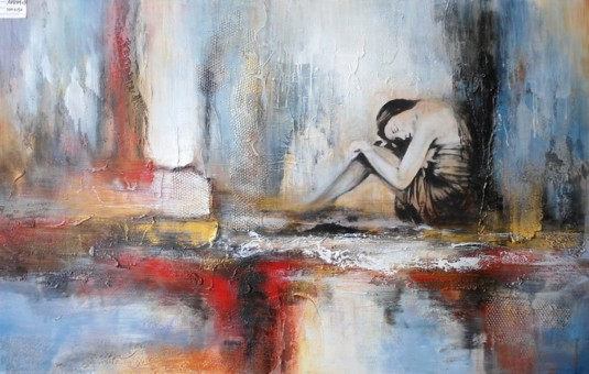 VIG Absract Woman Oil Painting Available Online in Dallas Fort Worth Texas
