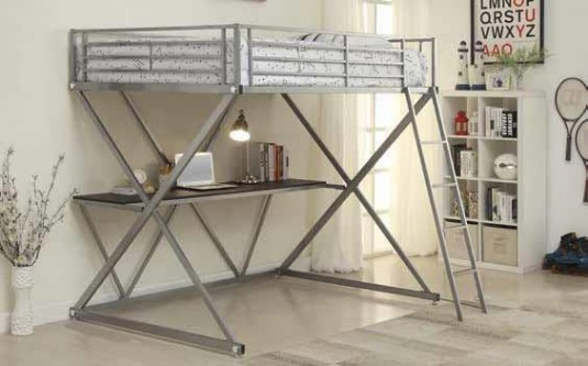 Coaster James Full Loft Bunk Bed Available Online in Dallas Fort Worth Texas