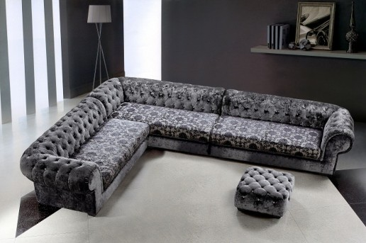 Vig Divani Casa Metropolitan Fabric Sectional Sofa Ottoman Available Online In Dallas Fort Worth Texas