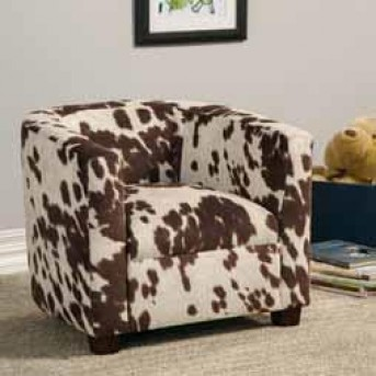 Coaster Cowhide Kids Chair Available Online in Dallas Fort Worth Texas