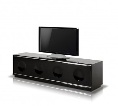 VIG A&X Grand Black Crocodile Lacquer TV Stand Available Online in Dallas Fort Worth Texas