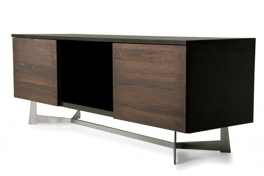VIG Wharton Dark Aged Oak TV Stand Available Online in Dallas Fort Worth Texas