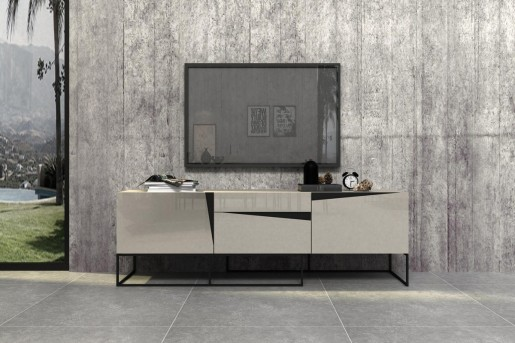 VIG Hope Grey Gloss TV Stand Available Online in Dallas Fort Worth Texas
