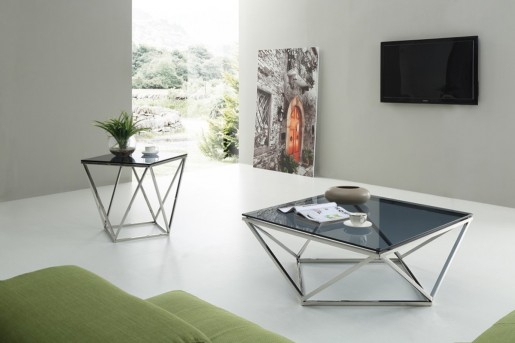 VIG Vector 3pc Smoked Glass Coffee Table Set Available Online In Dallas  Fort Worth Texas