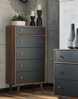 Ashley Daneston Five Drawer Chest Available Online in Dallas Fort Worth Texas