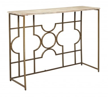 Ashley Roelsen Gold Console Sofa Table Available Online in Dallas Fort Worth Texas
