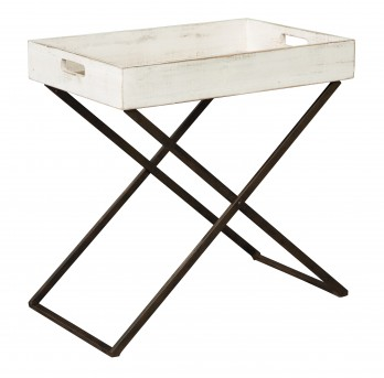 Ashley Janfield Antique White Accent Table Available Online in Dallas Fort Worth Texas