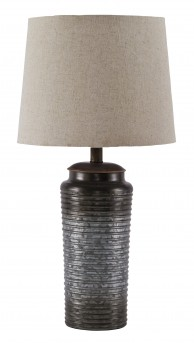 Ashley Norbert Gray Metal Table Lamp Available Online in Dallas Fort Worth Texas