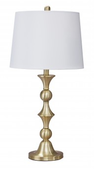 Ashley Genevieve Antique Brass Metal Table Lamp Available Online in Dallas Fort Worth Texas